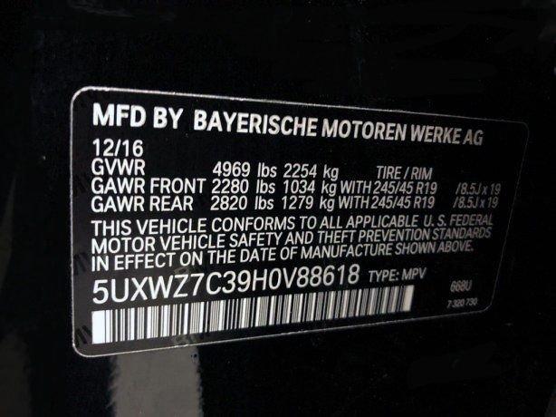 BMW X3 2017 near me