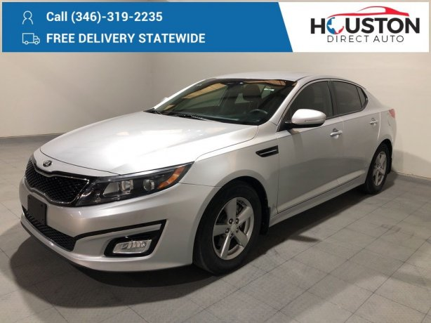 Used 2014 Kia Optima for sale in Houston TX.  We Finance!