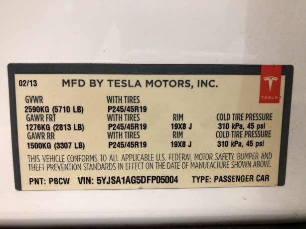 Tesla 2013 for sale near me