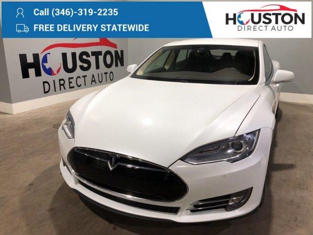 Used 2015 Tesla Model S for sale in Houston TX.  We Finance!