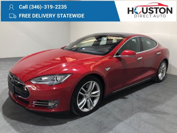 Used 2016 Tesla Model S for sale in Houston TX.  We Finance!