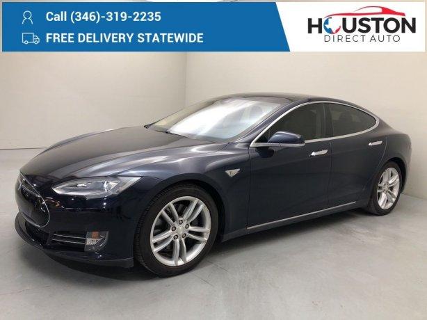 Used 2014 Tesla Model S for sale in Houston TX.  We Finance!