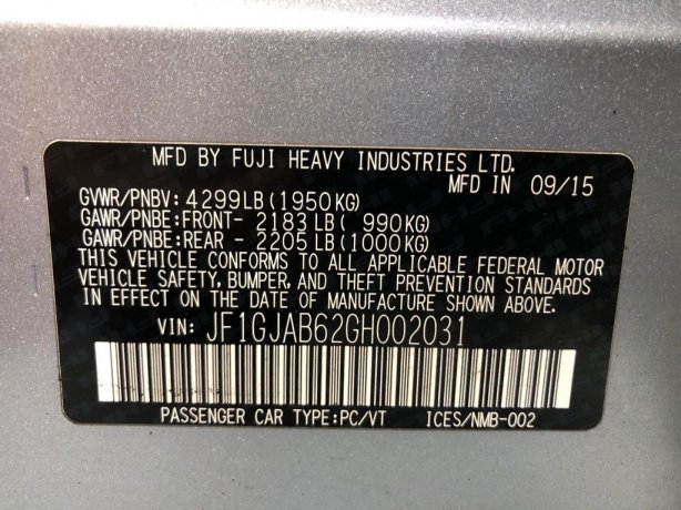 Subaru Impreza cheap for sale near me