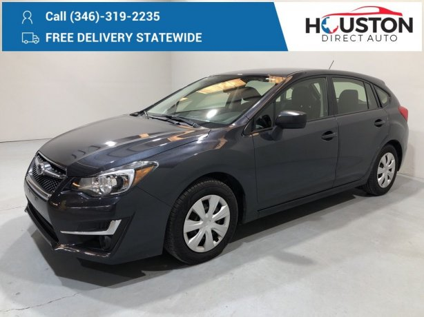 Used 2016 Subaru Impreza for sale in Houston TX.  We Finance!