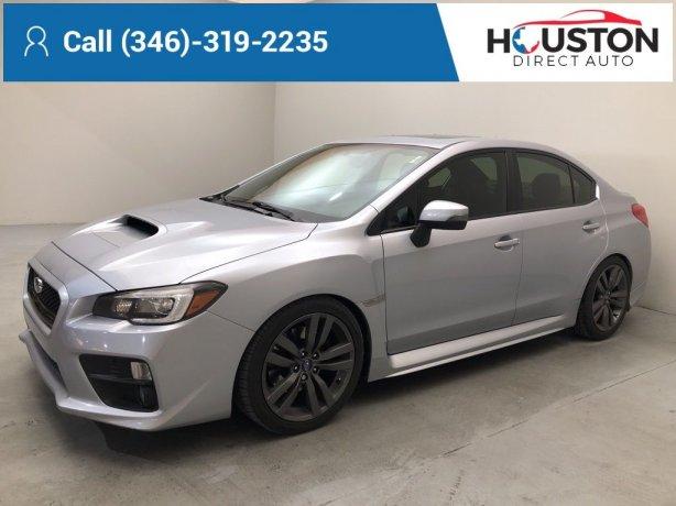 Used 2016 Subaru WRX for sale in Houston TX.  We Finance!