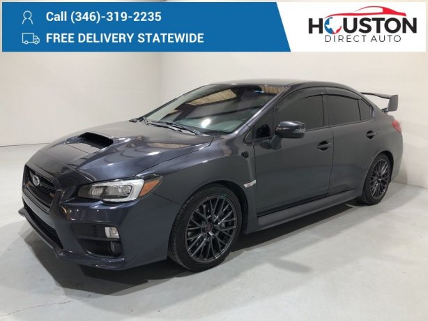 Used 2017 Subaru WRX for sale in Houston TX.  We Finance!