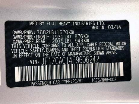 Subaru 2014 for sale Houston TX