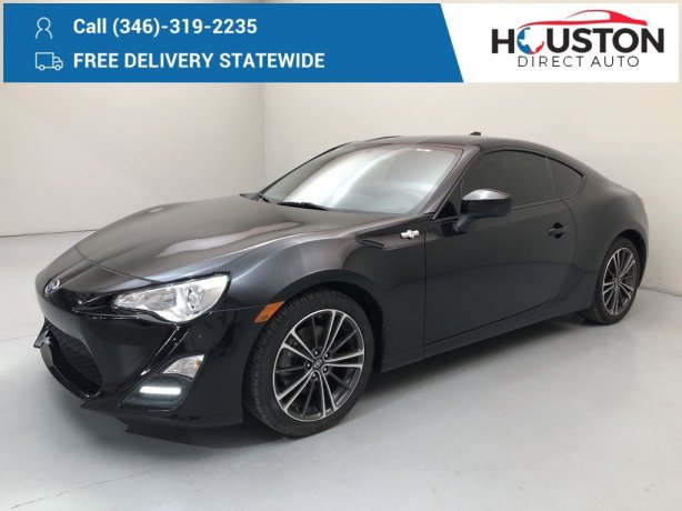 Used 2016 Scion FR-S for sale in Houston TX.  We Finance!