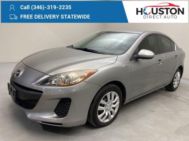 Used 2012 Mazda Mazda3 for sale in Houston TX.  We Finance!