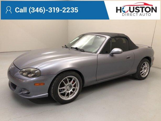 Used 2004 Mazda Miata for sale in Houston TX.  We Finance!