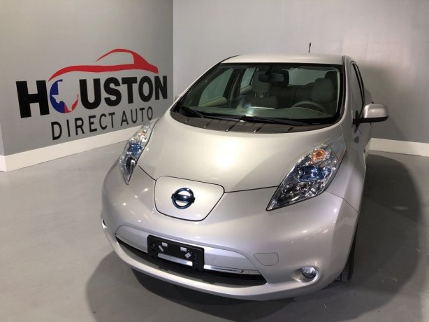 Used 2012 Nissan Leaf for sale in Houston TX.  We Finance!