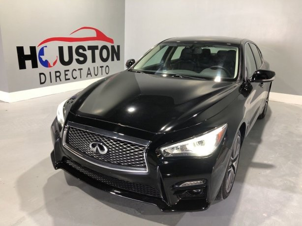 Used 2015 INFINITI Q50 for sale in Houston TX.  We Finance!