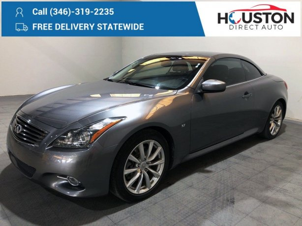 Used 2014 INFINITI Q60 for sale in Houston TX.  We Finance!