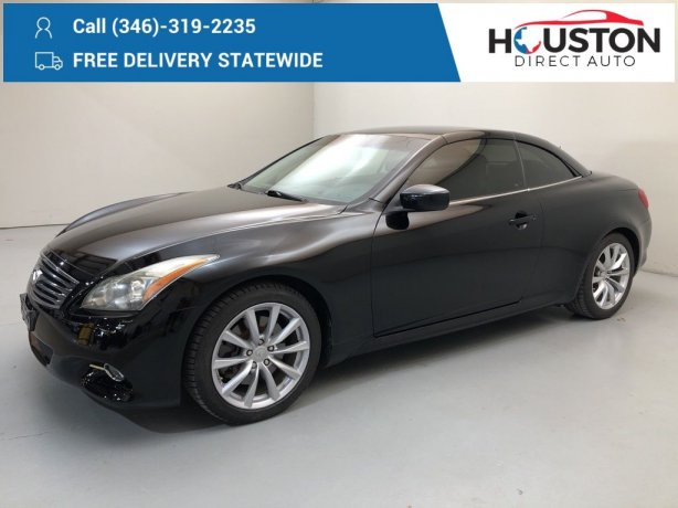 Used 2012 INFINITI G37 for sale in Houston TX.  We Finance!
