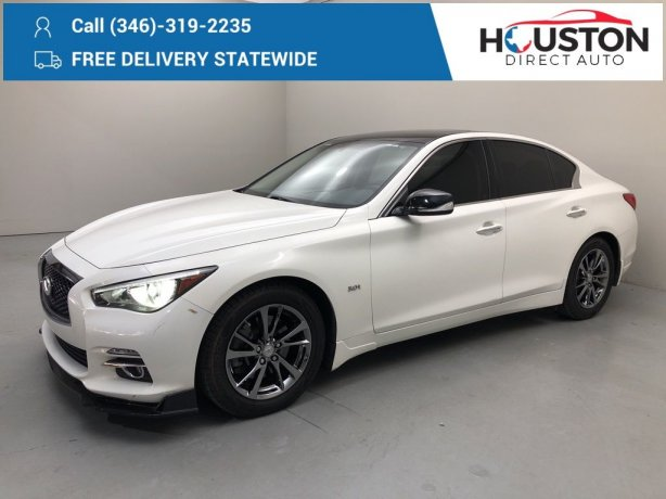Used 2017 INFINITI Q50 for sale in Houston TX.  We Finance!
