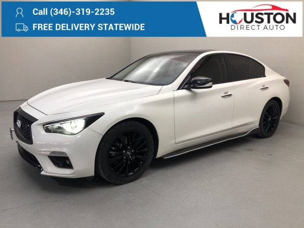 Used 2018 INFINITI Q50 for sale in Houston TX.  We Finance!