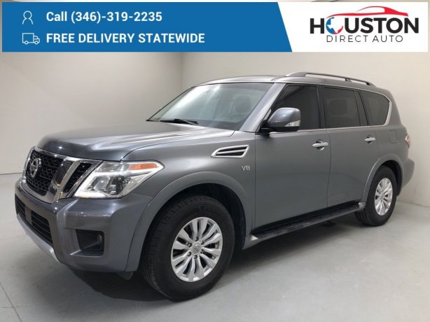 Used 2017 Nissan Armada for sale in Houston TX.  We Finance!