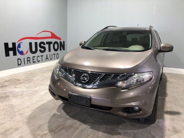 Used 2013 Nissan Murano for sale in Houston TX.  We Finance!