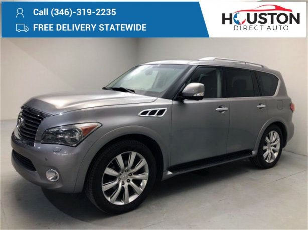 Used 2014 INFINITI QX80 for sale in Houston TX.  We Finance!