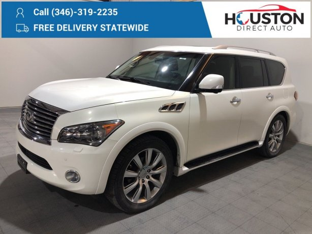 Used 2013 INFINITI QX56 for sale in Houston TX.  We Finance!