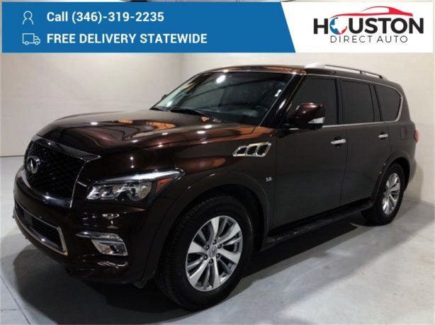 Used 2017 INFINITI QX80 for sale in Houston TX.  We Finance!