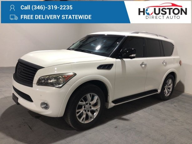 Used 2011 INFINITI QX56 for sale in Houston TX.  We Finance!