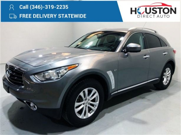 Used 2014 INFINITI QX70 for sale in Houston TX.  We Finance!