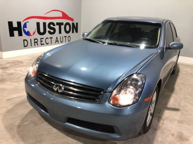 Used 2006 INFINITI G35 for sale in Houston TX.  We Finance!