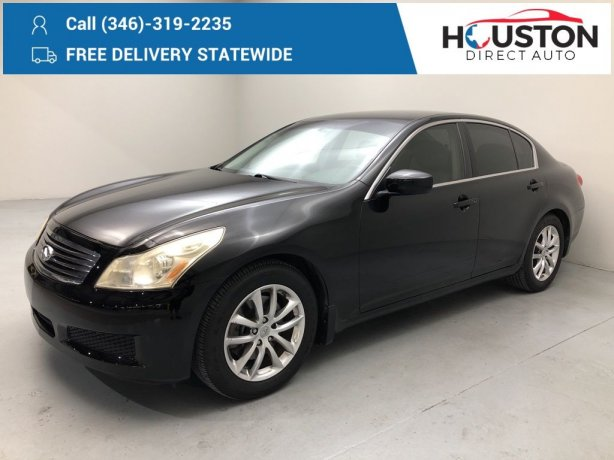 Used 2009 INFINITI G37 for sale in Houston TX.  We Finance!