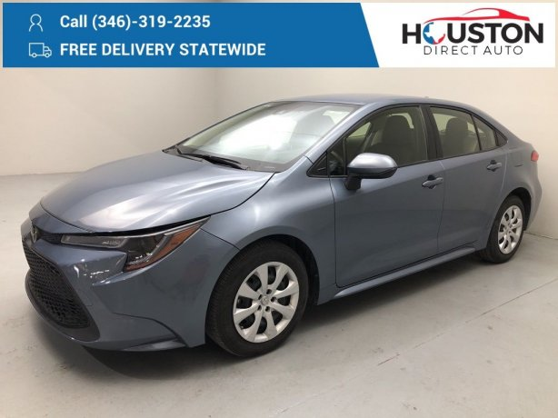 Used 2020 Toyota Corolla for sale in Houston TX.  We Finance!
