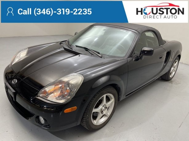 Used 2003 Toyota MR2 Spyder for sale in Houston TX.  We Finance!