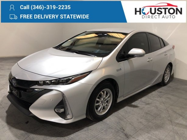 Used 2018 Toyota Prius Prime for sale in Houston TX.  We Finance!