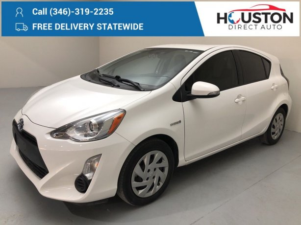 Used 2015 Toyota Prius c for sale in Houston TX.  We Finance!