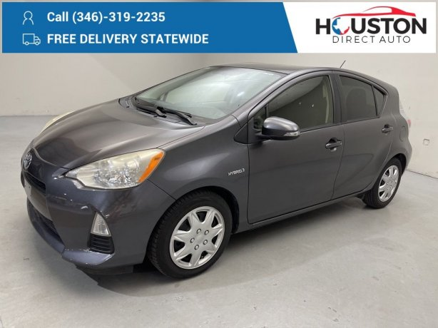 Used 2012 Toyota Prius c for sale in Houston TX.  We Finance!