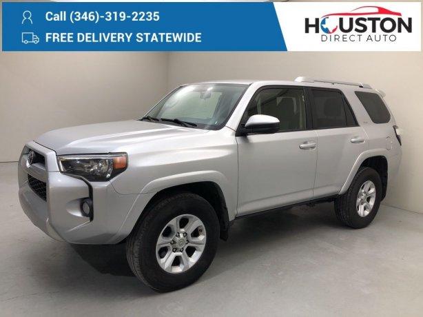 Used 2017 Toyota 4Runner for sale in Houston TX.  We Finance!