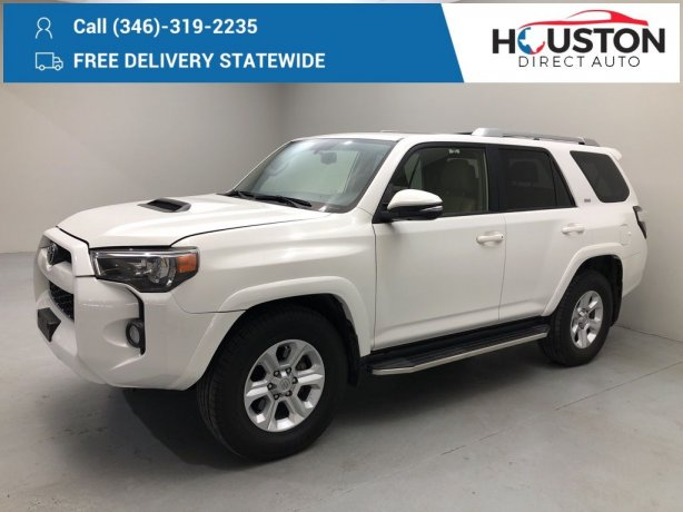 Used 2017 Toyota 4Runner for sale in Houston TX.  We Finance!