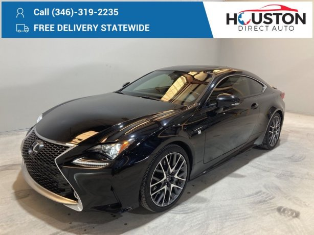 Used 2017 Lexus RC for sale in Houston TX.  We Finance!