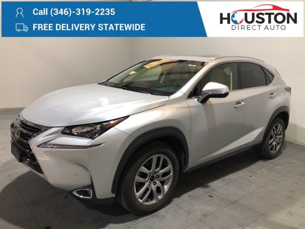 Used 2016 Lexus NX for sale in Houston TX.  We Finance!