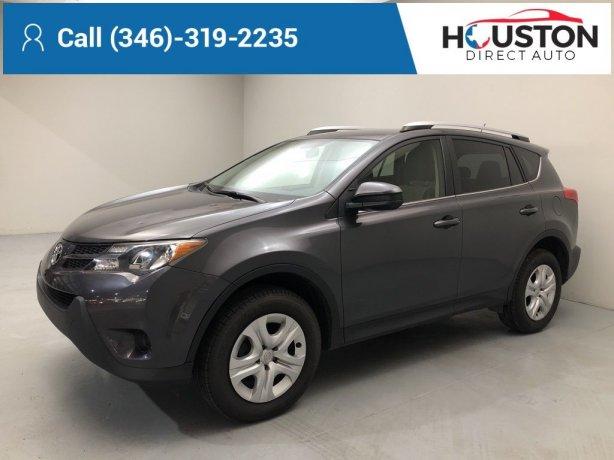 Used 2015 Toyota RAV4 for sale in Houston TX.  We Finance!
