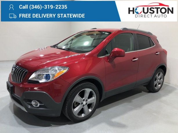 Used 2013 Buick Encore for sale in Houston TX.  We Finance!