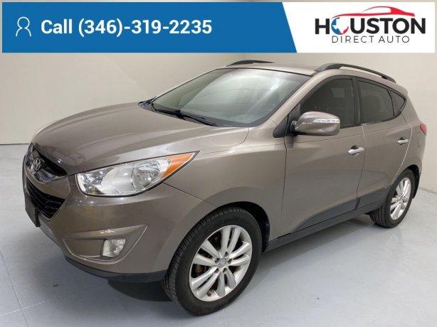 Used 2012 Hyundai Tucson for sale in Houston TX.  We Finance!