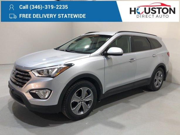 Used 2015 Hyundai Santa Fe for sale in Houston TX.  We Finance!
