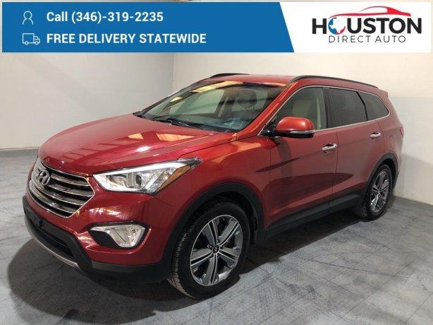 Used 2016 Hyundai Santa Fe for sale in Houston TX.  We Finance!