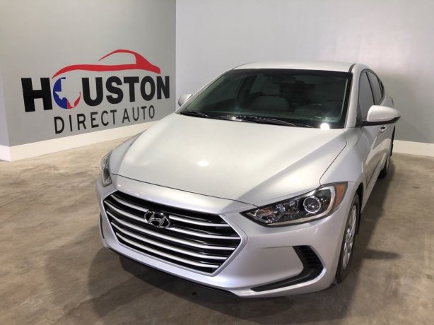 Used 2017 Hyundai Elantra for sale in Houston TX.  We Finance!