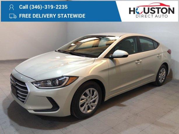 Used 2018 Hyundai Elantra for sale in Houston TX.  We Finance!