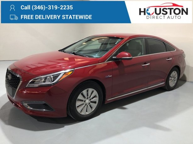 Used 2016 Hyundai Sonata Hybrid for sale in Houston TX.  We Finance!