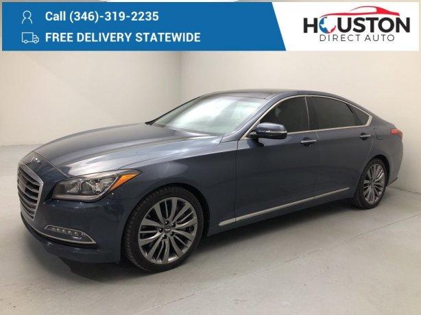 Used 2015 Hyundai Genesis for sale in Houston TX.  We Finance!