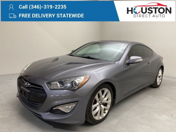Used 2015 Hyundai Genesis Coupe for sale in Houston TX.  We Finance!