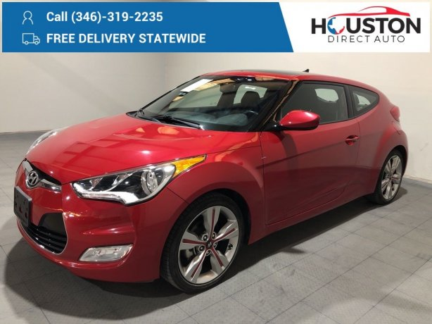 Used 2017 Hyundai Veloster for sale in Houston TX.  We Finance!