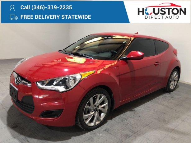 Used 2016 Hyundai Veloster for sale in Houston TX.  We Finance!